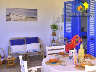 Cosy villa few steps away from the beach and the centre, among fields & valleys