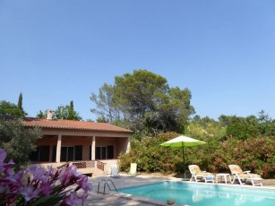 Very quiet villa with private swimming pool on 1700 sq meter land in Flayosc
