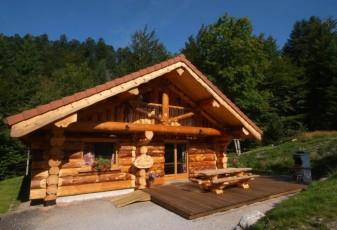 Sublime chalet rondins de 140 m² en lisière de forêt et ruisseau, La Bresse, wifi
